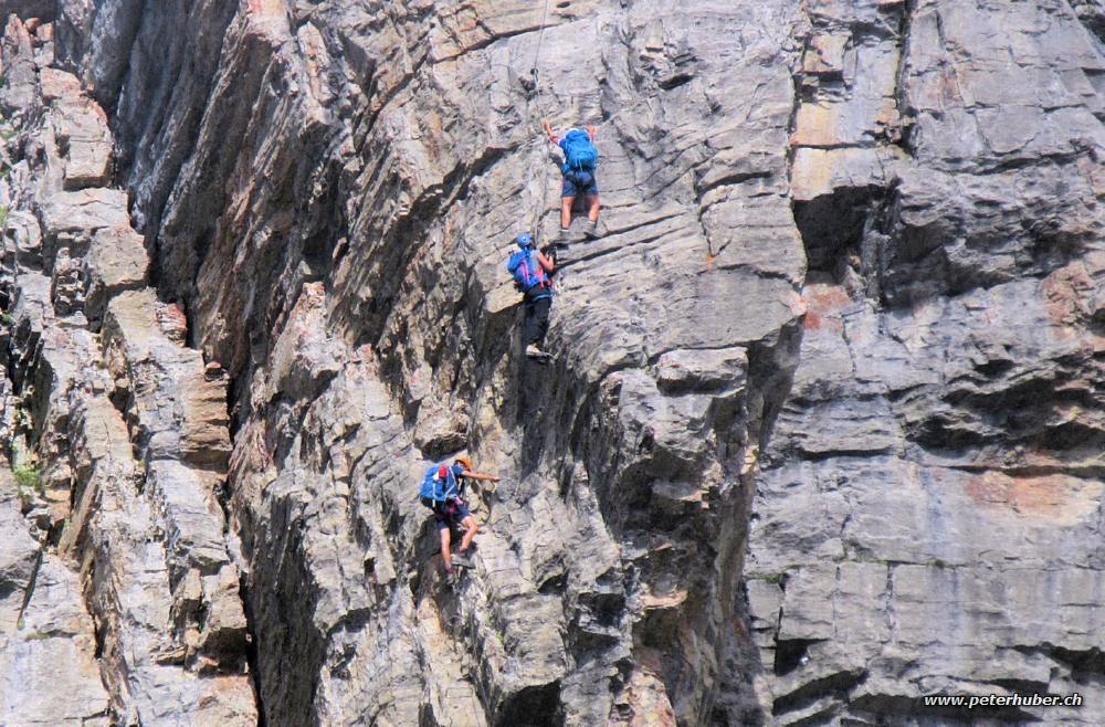 Klettersteig Graustock : Klettersteig graustock bild von
